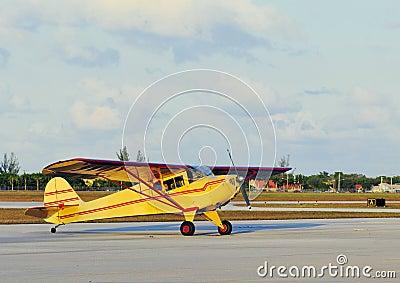 Yellow Small Plane