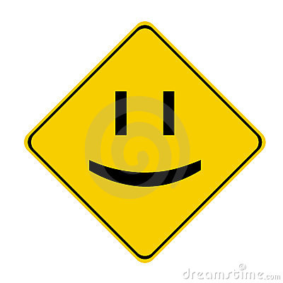 Yellow smile sign