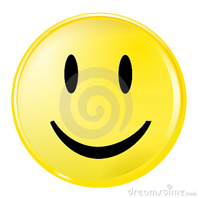 Yellow smiley face Vector Illustration