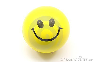 Yellow Smiley Face Stress Ball