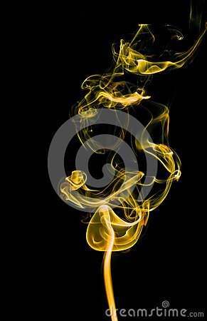 Free Yellow Smoke Abstract Background Royalty Free Stock Photography - 35970077