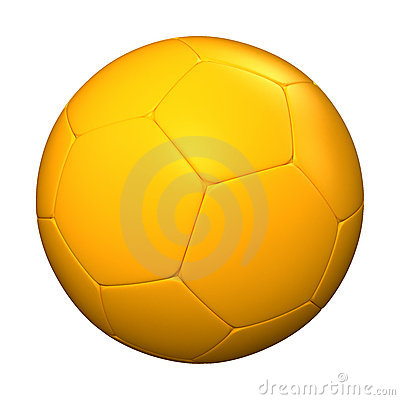 Yellow soccer ball