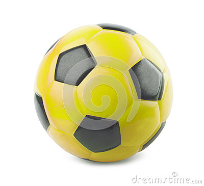 Free Yellow Soccer Ball Royalty Free Stock Photo - 45783515