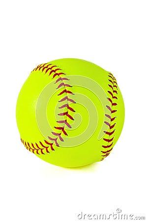 Free Yellow Softball Royalty Free Stock Image - 8457666