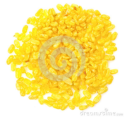 Yellow soybeans cut