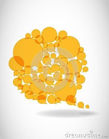 Yellow speech dialog bubbles