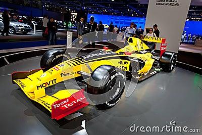 Yellow sport car Fomula 1 Renault Editorial Photo