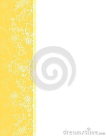 Yellow Spring Flower Vine Left Border