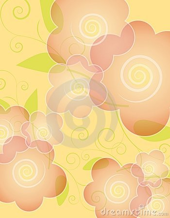 Yellow Spring Opaque Flower Background