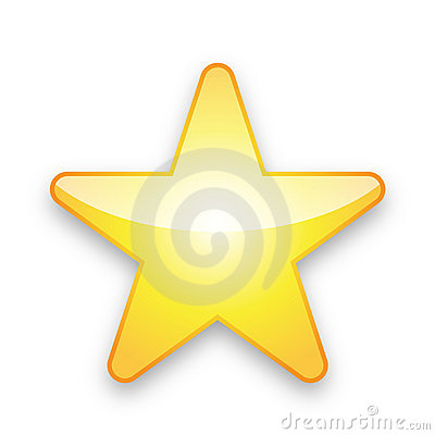 Free Yellow Star Royalty Free Stock Images - 10805319