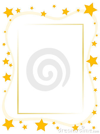 Yellow star frame