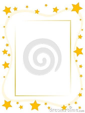 Free Yellow Star Frame Royalty Free Stock Photo - 2510605
