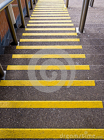 Yellow Steps Going Down - Accident Prevention