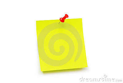 Yellow sticker note