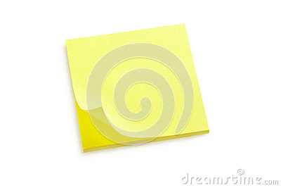 Yellow sticker note