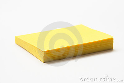 Yellow Sticky Note Pad