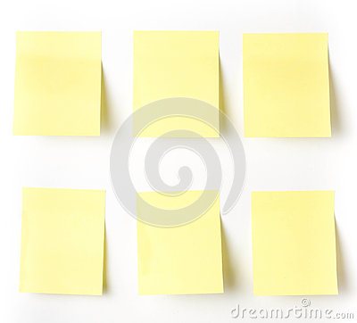 Yellow Sticky reminder note waiting for your message.