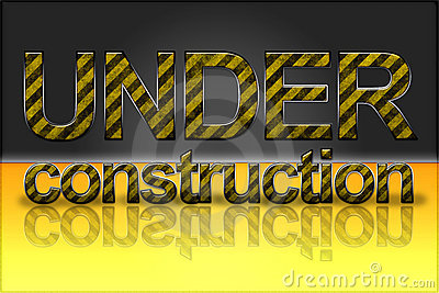 Yellow Striped Text Effect - Under Construction