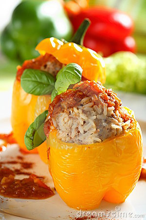 Free Yellow Stuffed Pepper Royalty Free Stock Image - 2102366