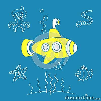 Free Yellow Submarine Stock Photos - 11408253