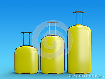 Yellow suitcases