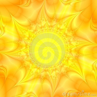 Yellow sun Abstract Background