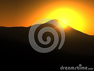 Yellow Sun Landscape