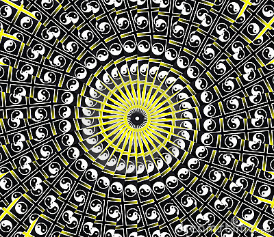 Yellow Sun Mandala
