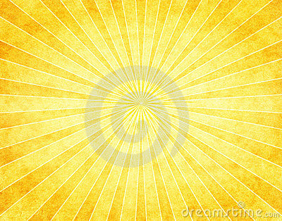 Yellow Sunburst on Paper