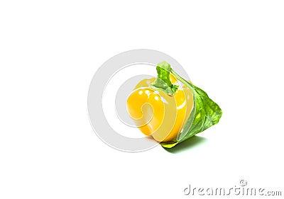 Yellow Sweet Pepper Isolation