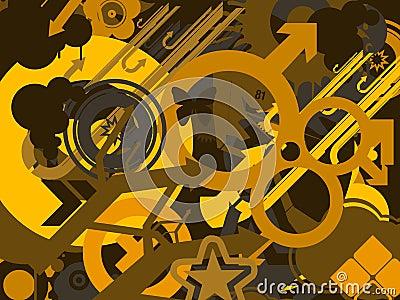 Yellow symbols background