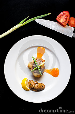 Yellow tail fillet dine