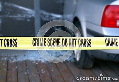 Yellow Tape Blocks a Crime Scene