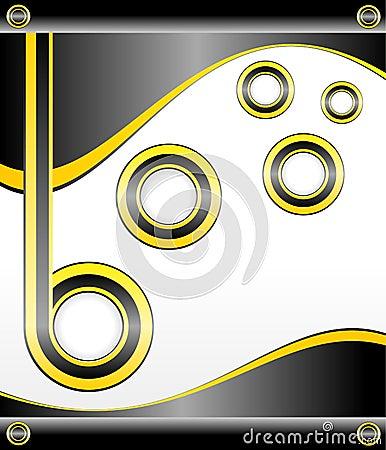 Yellow Template Background, Easily Editable