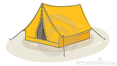 Yellow tent vector