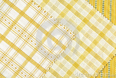 Yellow textile samples..