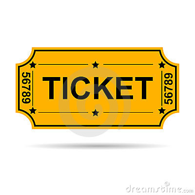 Yellow Ticket Royalty Free Stock Photos - Image: 13591418