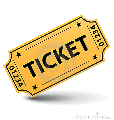 Free Yellow Ticket Royalty Free Stock Images - 8931559