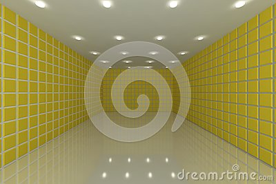 Yellow tile wall