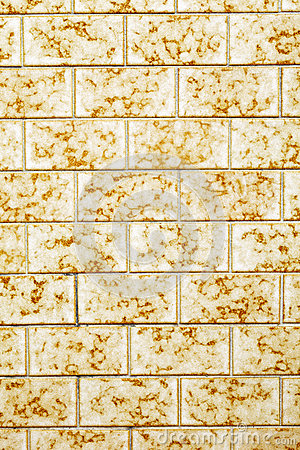 Yellow tiled wall