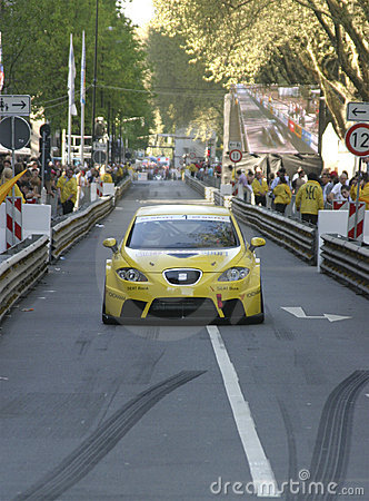 Yellow touring racer Editorial Photo
