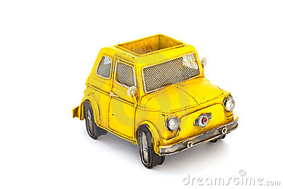 Yellow toy car