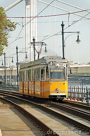 Free Yellow Tram Royalty Free Stock Images - 2373699