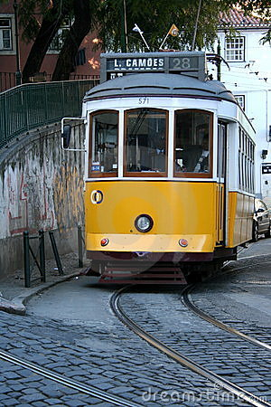 Yellow tram Editorial Stock Image