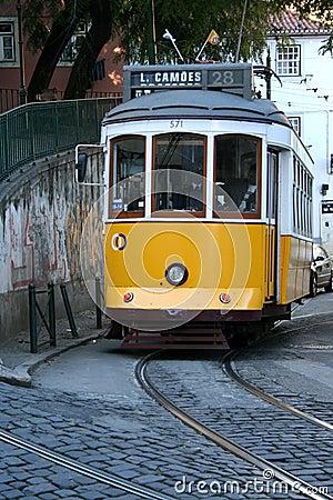 Yellow tram Editorial Stock Image