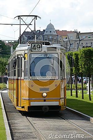 Yellow tram - Budapest
