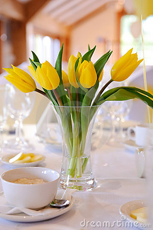 Yellow Tulips For Wedding Royalty Free Stock Photography