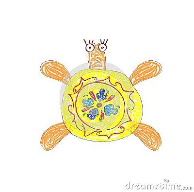 Yellow Turtle vector
