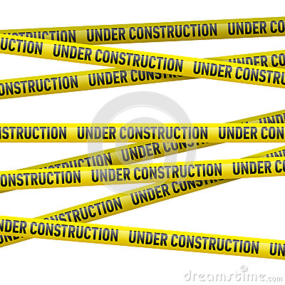 Free Yellow Under Construction Danger Tape Stock Images - 41297004