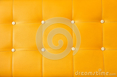 Yellow upholstery leather background